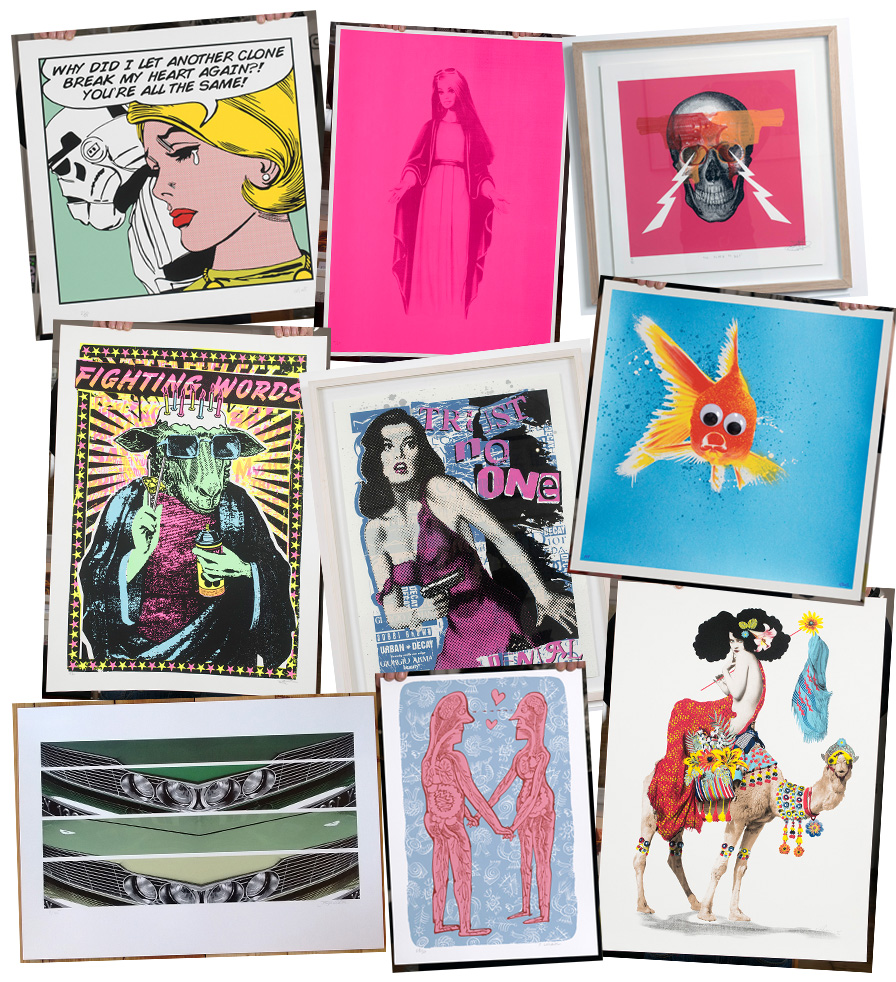 New screen prints to buy from the Atom Gallery shop!